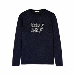 BELLA FREUD Dark Sky Navy Wool-blend Top