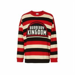 Burberry Kingdom Detail Striped Cashmere Sweater