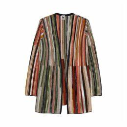 M Missoni Striped Fine-knit Wool-blend Cardigan