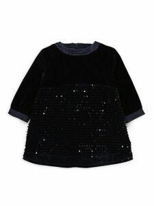 Baby Girl's & Little Girl's Sequin Velvet Dress