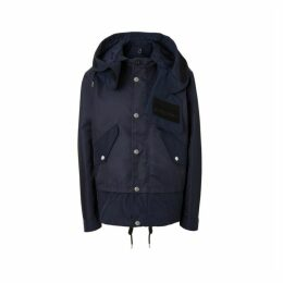 Burberry Detachable Hood Nylon Twill Jacket