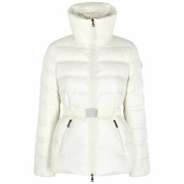 Moncler Alouette White Quilted Shell Jacket
