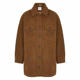 American Vintage Pacybay Brown Wool-blend Jacket