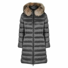 Moncler Tinuv Grey Quilted Shell Coat