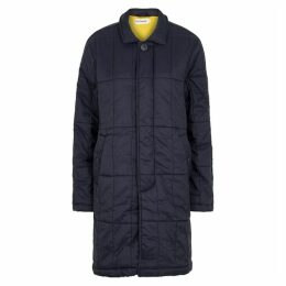 M.C. OVERALLS Navy Quilted Shell Jacket