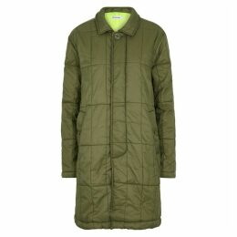 M.C. OVERALLS Army Green Quilted Shell Jacket
