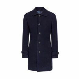 Hackett Outerwear Washed Wool Twill Coat