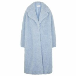 Stand Studio Clara Light Blue Faux Shearling Coat