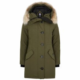 Canada Goose Rossclair Fusion Fit Fur-trimmed Parka