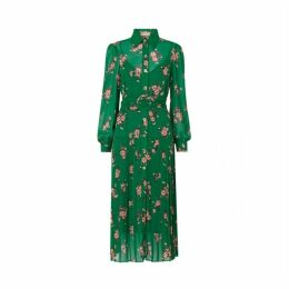 Kitri Tara Green Pleated Shirt Dress