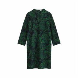 Jigsaw Layered Leaf Jersey Dress