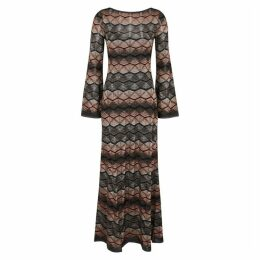 M Missoni Zigzag Metallic-knit Maxi Dress