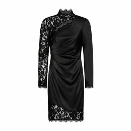 Aidan Mattox Liquid Satin And Lace Dress