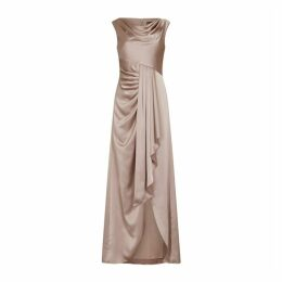 Aidan Mattox Draped Neck Flounce Gown