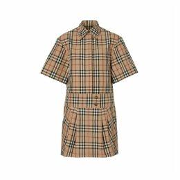 Burberry Short-sleeve Vintage Check Shirt Dress