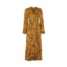 Kitri Anissa Animal Print Wrap Dress