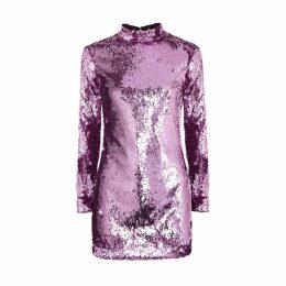 Serena Bute Lilac Sequin Mini Dress