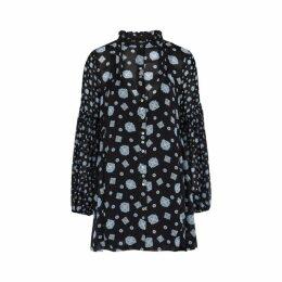 Free People Turn Turn Printed Georgette Mini Dress
