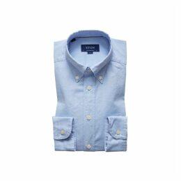 Eton Soft Light Blue Royal Oxford Shirt - Contemporary Fit