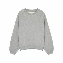 American Vintage Kinouba Grey Cotton Sweatshirt