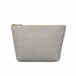 Padfield England - Leather Wash Pouch Grey & Lime