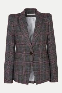 Veronica Beard - Brock Dickey Checked Wool-blend Blazer - Gray