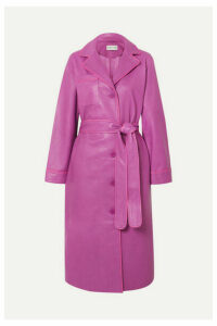 Stand Studios - Leather Trench Coat - Pink