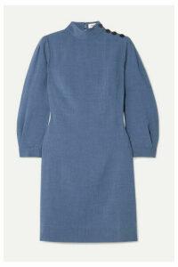 Cefinn - Tegan Button-embellished Voile Mini Dress - Light blue