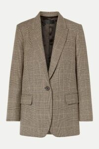 Nili Lotan - Diane Prince Of Wales Checked Wool-blend Blazer - Brown