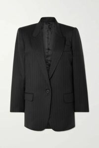 Nili Lotan - Diane Pinstriped Wool-blend Twill Blazer - Black