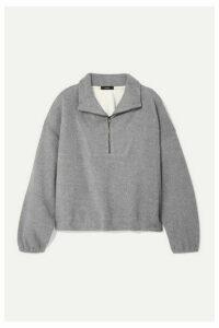 Bassike - Oversized Cotton-fleece Sweatshirt - Gray