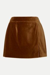 Bella Freud - Wool-velvet Mini Skirt - Brown