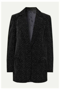 Blazé Milano - Cassiana Weekend Glittered Velvet Blazer - Black