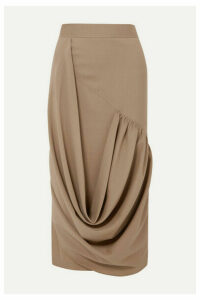 JW Anderson - Draped Wool Midi Skirt - Beige