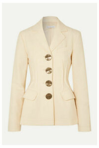 REJINA PYO - Etta Button-detailed Wool-twill Blazer - Ivory