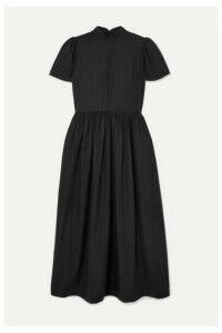 Rhode - Heidi Crystal-embellished Cotton-poplin Midi Dress - Black