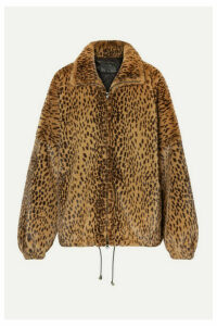 SPRWMN - Oversized Leopard-print Faux Fur Jacket - Leopard print