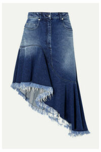 Michael Kors Collection - Asymmetric Frayed Denim Skirt - Indigo