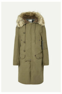 R13 - N-3b Oversized Faux Fur-trimmed Cotton Parka - Army green
