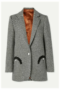 Blazé Milano - Sedov Weekend Oversized Herringbone Wool Blazer - Black
