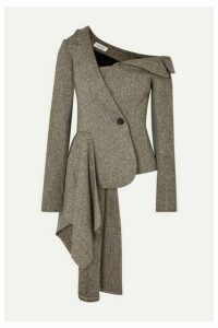 Monse - Asymmetric Herringbone Wool-blend Blazer - Camel