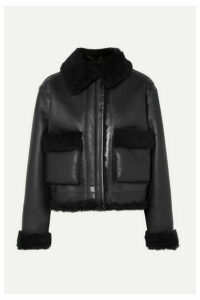 Aries - Cropped Shearling Jacket - Black