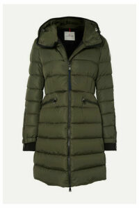 Moncler - Hooded Quilted Shell Down Jacket - Army green