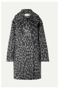 MICHAEL Michael Kors - Oversized Leopard-print Faux Fur Coat - Gray