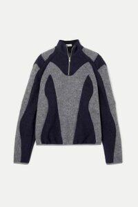 GmbH - Atrisia Two-tone Paneled Wool-felt Sweater - Gray