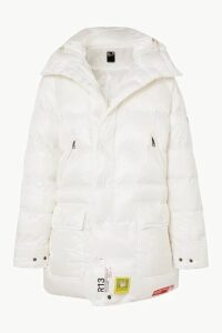 Brumal - + R13 Hooded Quilted Shell Down Parka - White