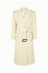 SAINT LAURENT - Belted Wool Coat - Ivory