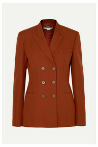 Stella McCartney - Double-breasted Wool-twill Blazer - Brick