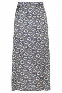 Vanessa Bruno - Marie Printed Crepe Midi Skirt - Blue