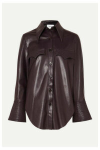 Nanushka - Elpi Vegan Leather Shirt - Merlot